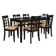7 piece black dining set