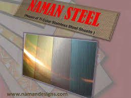 colored sheet metal stainless steel sheet with titanium color coating pvd