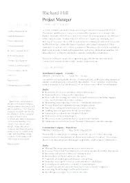 Construction Resume Templates Unique Project Resume Template Baniocha