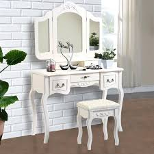 makeup vanity table sets chic and mirrored makeup vanities white makeup vanity table set w bench