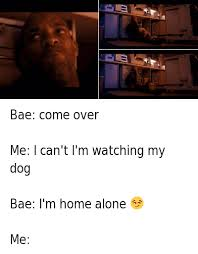 watching netflix with bae. bae: come over-me: i can\u0027t i\u0027m watching my dog-bae: home alone -me: netflix with bae l