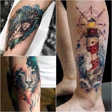 тату акварель идеи мужских и женских тату Tattoo Ideasru