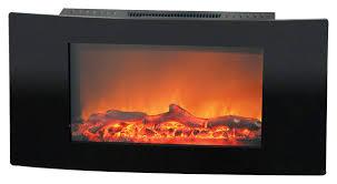 cambridge callisto wall mount electric fireplace black