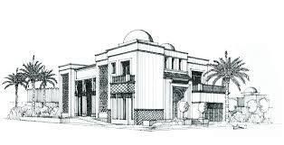 Villa Sketch Design Dubai United Arab Emiorates Villa Design By Bxl Design