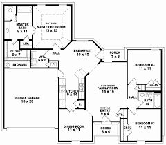 house plans one story 2 bedroom unique 3 bedroom house plans e story excellent with image