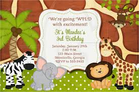 Jungle Theme Birthday Invitations Jungle Theme Party Invitations Magdalene Project Org
