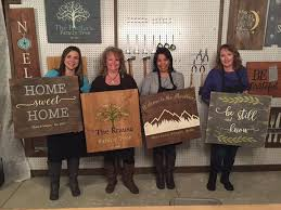 graceful oaks sign painting party fundraiser cozy barn signs frederick 21 april