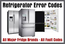refrigerator brands. refrigerator error codes - all major fridge brands fault d