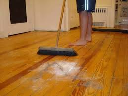 how to clean wood floors after removing old carpet
