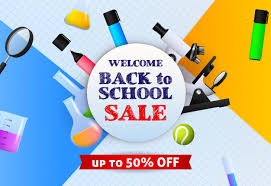 Welcome Back To School Sale Banner De Sign With Marker Pens