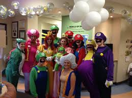 office halloween ideas. WOS Staff Dressed As Mario Characters Office Halloween Ideas