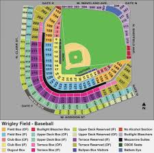 69 Correct Wrigley Seats Chart
