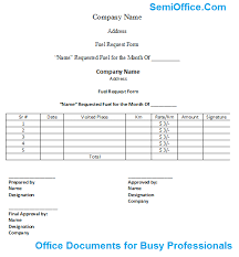 Fuel Allowance Application Form In Excel And Word Free Download