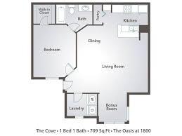 1 Bedroom Bath House Plans At Custom Com New Cove 1×1 709 Oasis
