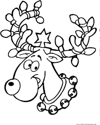 Santa And Reindeer Coloring Pages Coloring Pages Reindeer And