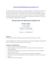 Prepossessing Maintenance Sample Resume About Building Maintenance