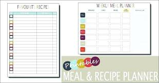 Breakfast Menu Template Gorgeous Monthly Food Menu Template Excel Menu Planner Free Templates For
