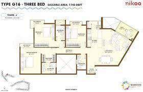 3bhk 3t 26 super area 1742 sq ft apartment