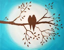love birds on branch silhouette.  Branch Birds On Branch Original Inside Love On Branch Silhouette U