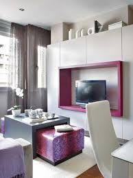 Living Room Decor For Small Apartments Luxury Desk In Living Room Apartment With Small Concept Design