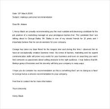 Free Letter Of Recommendation Free Letter of Recommendation Format Sample Template 9
