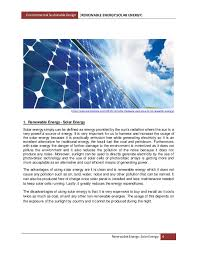 solar energy report 4 environmental sustainable design renewable energy solar