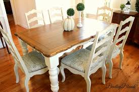 painted dining room furnitureBentleyBlonde DIY Farmhouse Table  Dining Set Makeover with