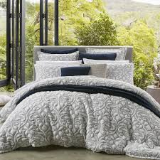liana navy quilt cover set king 3pce