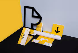 Graphic Design Before Graphic Designers Bold And Bright Modern Branding Design With Yellow Black And