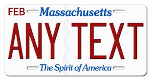 Any Plate 6x12 Tag Vanity Personalized Auto Aluminum Text Massachusetts Ebay License