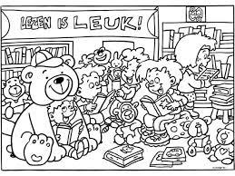 Kleurplaat Lezen Is Leuk Lezen Reading Comics School