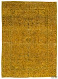 eye catching over dyed persian rugs in k0018452 yellow vintage rug