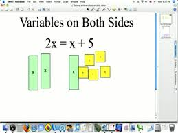 solving with variables on both sides preview image