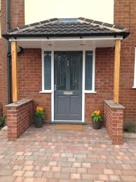 front door canopy designs. richmond style front door painted in gallant grey by dulux porch canopy supported ideas designs