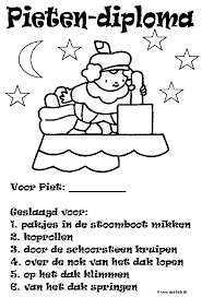 Diploma Pietendiploma Sinterklaas Werkbladen Kleurplaat