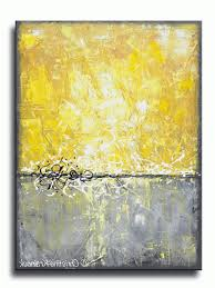 yellow and gray abstract art giclee print art yellow grey abstract painting canvas prints