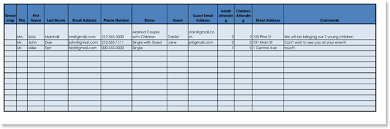 Excel Guest List Free Wedding Guest List Templates For Word And Excel Track