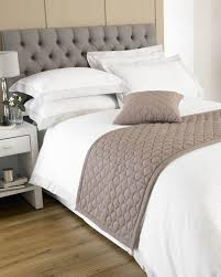Taupe Bedroom Loire Bed Runner Taupe Cheap Bed Room Accessories Uk Delivery