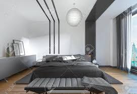 Modernes Bett Im Schlafzimmer Der Zeitgenössische Stil