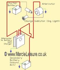 split charge circuits marcleleisure co uk Diagram For Alternator And Battery go to our alternator to battery charger Car Battery and Alternator