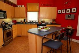Red Kitchen Walls | Kitchen, Kitchen Layout Ideas For Small Kitchens With  Red Wall Paint