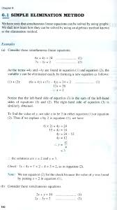 chapter 6 1 simultaneous linear equations