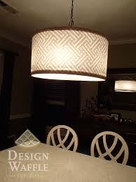diy chandelier drum shade
