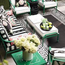 black and white greek key rug