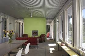 metal ceiling ideas family room industrial with corrugated metal wooden armchairs