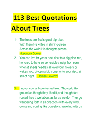 best quotations about trees