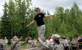 2-337 PFAR Spouses play Army