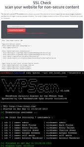 wordpress scanner tool