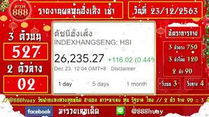 ถ่ายทอดสดผลหุ้นฮั่งเส็ง เช้า งวดวันที่ 23 ธันวาคม 2563 ตรวจผลหุ้นฮั่งเส็ง  เช้า วันนี้ - YouTube