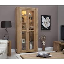 Living Room Furniture Oak Michigan Display Cabinet Glazed Solid Oak Living Room Furniture Ebay